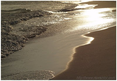 sun on shore in Destin