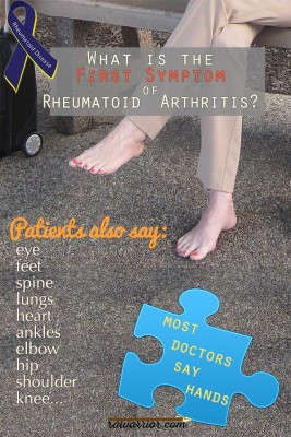 First Symptom of Rheumatoid Arthritis
