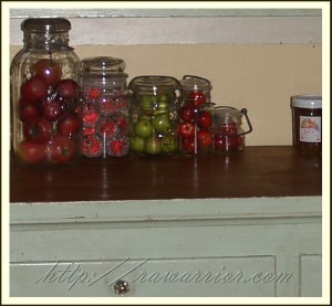 apples in jars