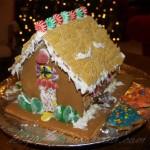 RA Warrior's gingerbread house back door