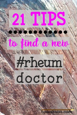 21 Tips to find a new rheumatologist