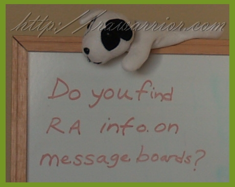 RA message boards
