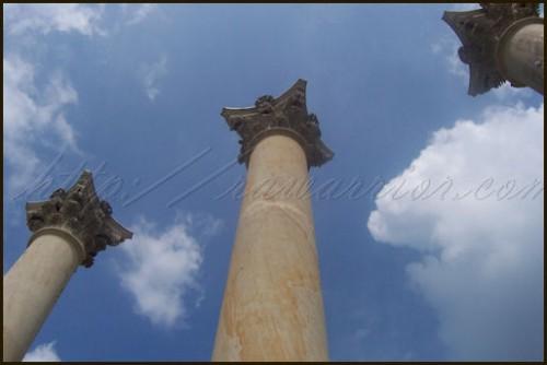 Sky and pillars