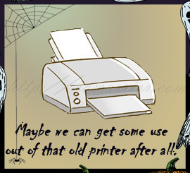 Halloween printer