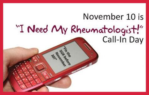 Amercian College of Rheumatology I need my rheumatologist call-in