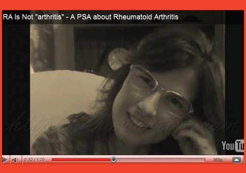 "RA is not ""arthritis"" PSA video"