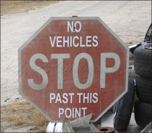 stop sign not past this point