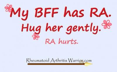 new bff Rheumatoid Arthritis t-shirt