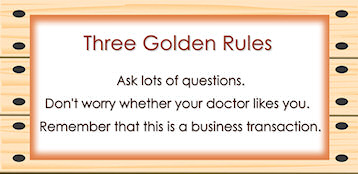 3 rules from Elizabeth Cohen Empowered Patient