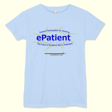 blue e-patient t-shirt