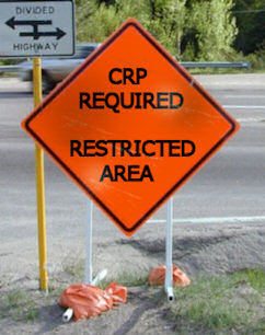 CRP restricted sign