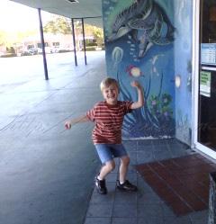 Roo by mural