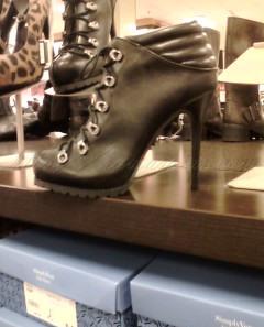 """combat boots with 5"""" heels"""