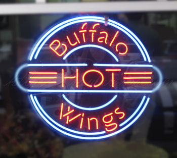 hot wings sign