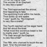 Blind men & elephant poem