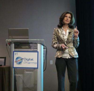 Kelly speaking at Digital Pharma West