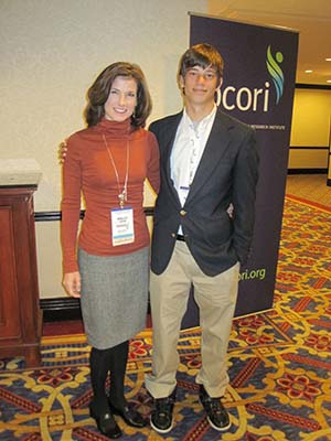 Kelly and Tiger at PCORI workshop