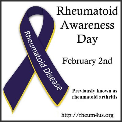 Rheumatoid Awareness Day badge