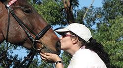 Simone with horse