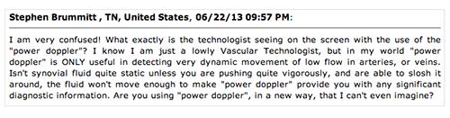 screenshot comment Rheumatology News MSUS