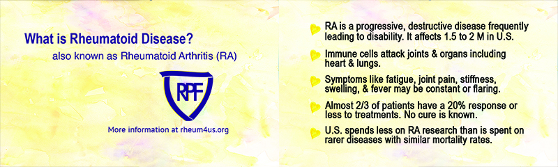 Rheumatoid Disease Awareness Card - sample