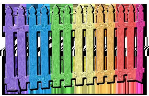 rainbow fence