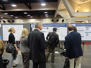 busy poster session for RPF at ACR13
