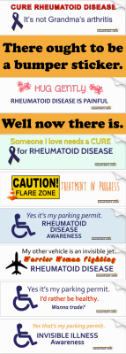 Invisible Illness Awareness Bumper Stickers - Click to enlarge