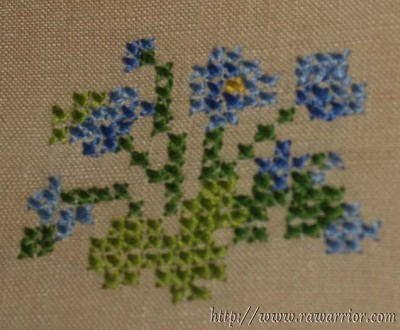 Story for RA warriors cross stitch