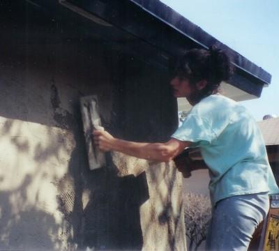 me before RA applying stucco