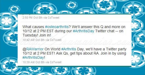 world arthritis day tweets