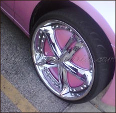 rubber meets the road pink wheel