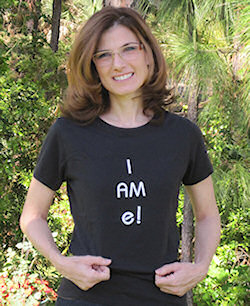 "Kelly in I am ""e""shirt"