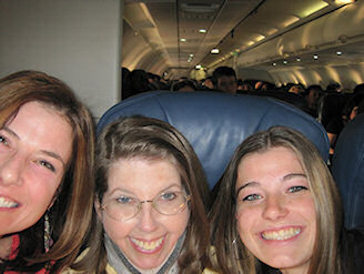 girls on the plane