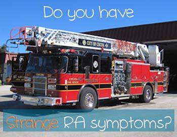 Cocoa fire truck - strange RA symptoms post