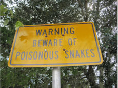 poisonous snake sign