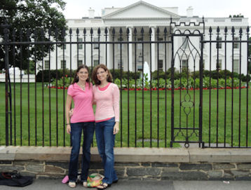Kelly & Katie Beth by White House
