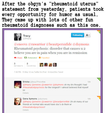 funny tweets after  rheum uterus post