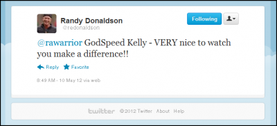 Godspeed tweet