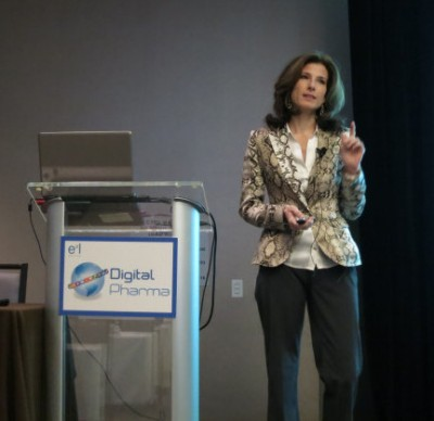 Kelly speaking at Digital Pharma West