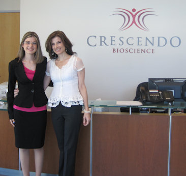 Kelly & KB in SF Crescendo Bioscience