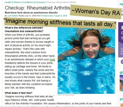Womans Day RA errors screenshot