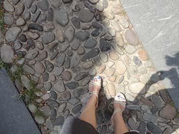 KB's feet Elfreth's Alley