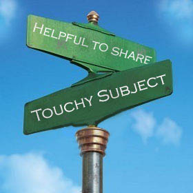 Touchy subject sign