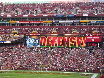 Redskins Defense sign