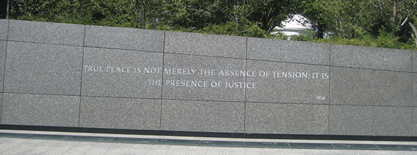 quote on Martin Luther King Memorial wall