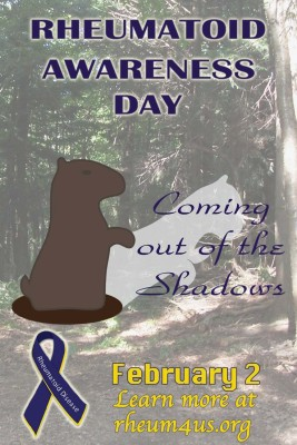 Rheumatoid Disease Awareness Day groundhog
