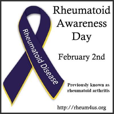 Rheumatoid Awareness Day badge