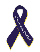 Rheumatoid arthritis awareness ribbon