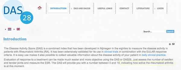 DAS site screenshot